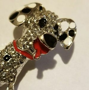 "Jewelry - "" TONGUE WAGGING"" CUTE DALMATIAN PUPPY PIN BROOCH"
